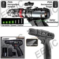 EELIC MEB-DC120 Alat Listrik Mesin Bor / Obeng Lithium Cordless drill
