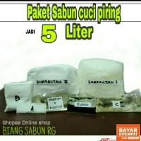 Paket bahan lengkap sabun cuci piring 5 Liter, Biang sabun cuci piring