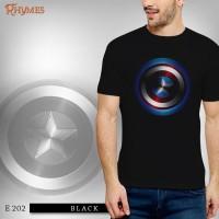 Kaos Baju Pria Dewasa Superhero Captain America Logo