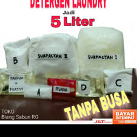 Paket bahan Deterjen cair laundry 5 liter, Detergen laundry, Detergent