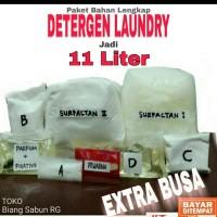 Paket bahan lengkap Deterjen cair laundry 10 liter, Detergent laundry