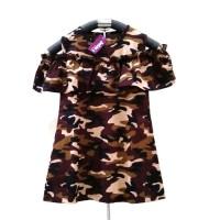 Baju Dress Anak Bayi Cewek / Perempuan Tentara Sabri Army Abri 1-3 th
