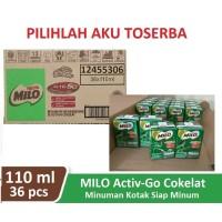 Susu Milo Kotak Coklat ACTIVE GO UHT - 115 ml (1 dus isi 36)