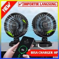 Kipas Angin Mobil Double Headed Fan / Aksesoris Mobil - 100276