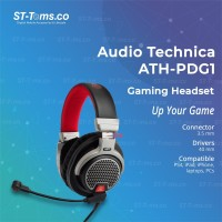 Audio Technica ATH-PDG1 / ATH PDG1 Open-Air Gaming Headset with mic