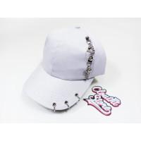 Topi Korea KPOP Baseball Cincin Anting Piercing Rantai Polos Putih