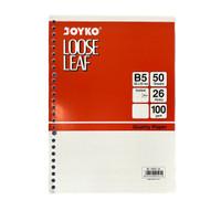 Loose Leaf Kertas File B5 Joyko Grid & Dotted 50 Lembar - DOTTED