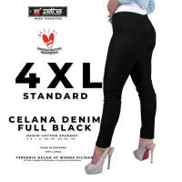 Celana ZETHA Size 4XL Warna Denim Fullblack Model Standard