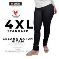Celana ZETHA Size 4XL Warna Hitam Katun Model Standard