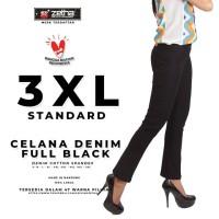 Celana ZETHA Size 3XL Warna Denim Fullblack Model Standard