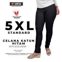 Celana ZETHA Big Size 5XL Warna Hitam Katun Model Standard