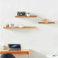rak dinding minimalis ambalan melayang 30cm 3pcs