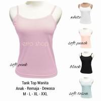 Tank Top / Tanktop / Tangtop / Tengtop Wanita Anak Remaja Dewasa Polos
