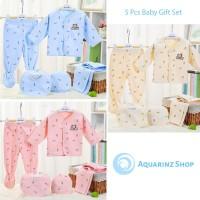 [Paket 5pcs] Perlengkapan Bayi Baru Lahir Baju Newborn Gift Set Bear