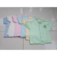 Baju Bayi New Born Tangan pendek Hello baby Polos - 3Pcs