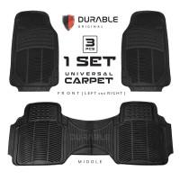 DATSUN GO DURABLE Karpet Karet PVC 3 Pcs Universal