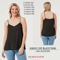 Tank Top Branded Wanita - ANKO 05 CHF BLACK TANK