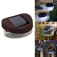 Lampu Dinding Pohon Pagar Taman LED Outdoor Tenaga Surya Waterproof - Hitam