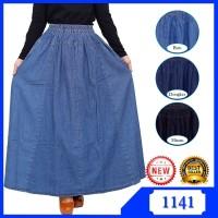 Rok Panjang Muslimah Umbrella Jumbo Jeans Grosir Murah - SH07