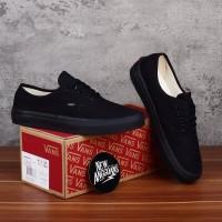 Sepatu Vans Authentic Full All Black Hitam Polos