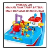 MAINAN ANAK PARKING LOT TRACK CAR THOMAS BRAIN GAME EDUKASI BELAJAR