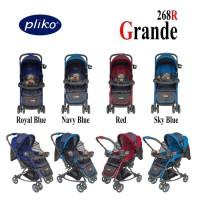 Kereta Dorong Bayi Stroller Pliko 268 Grande Red