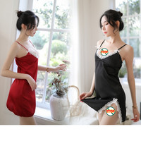 SEXY DRESS LINGERIE/BAJU TIDUR LINGERIE SEXYDRESS BABYDOLL-red 2IN1