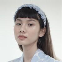 Blue Batik Scrunchie Headband