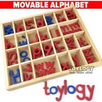 Mainan Edukasi Anak Movable Alphabet Abjad Huruf ABC Montessori Kayu