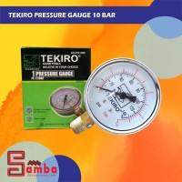 TEKIRO PRESSURE GAUGE 10 BAR / PENGUKUR TEKANAN AIR