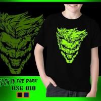 Kaos Anak Laki-Laki Joker Glow in the dark Rhymes Baju Atasan Tanggung