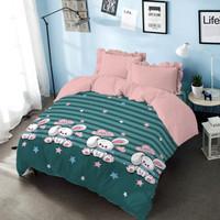 Bed Cover Bonnie Kintakun Dluxe Microfiber Hijau (7in1) 39 cm Double