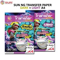 Kertas Transfer Paper Dark + Light SUN NG Transfer Paper A4