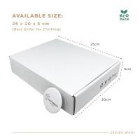 White Box Packaging (25.0x20.0x5.0 cm) Kardus Premium Ready Stock