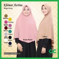 ✅ Khimar Jersey Jumbo Azrina Pet Hijab Bergo Syari Instan