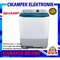 Mesin cuci Sharp 2 tabung 9 kg EST 95 CR