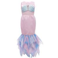 Baju Dress Anak Kostum Princess Ariel Mermaid Putri Duyung Import