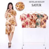 setelan kulot polka - promo baju piyama batik wanita