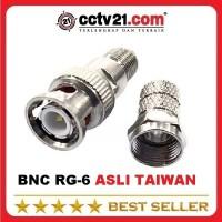 Jack Coaxial Connetor BNC Drat RG6 Asli Made in Taiwan Akesesoris cctv