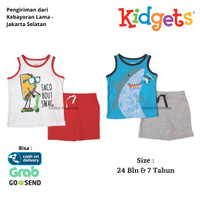 Baju Setelan Anak Laki Laki Kidgets Lengan Kutung - Set Kidgets Kids