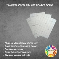 Transfer Paper 3G Jet Opaque A3 (Made in USA)