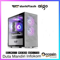Aigo darkFlash DLM21 MESH White - Tempered Glass Micro ATX Gaming Case