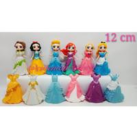 Mainan Figure Princes Ariel Disney Ganti Baju/Toper Kue Cake Set 6