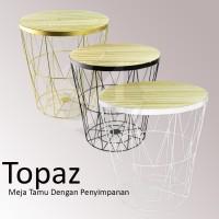 informa TOPAS Meja Bangku Dengan Keranjang Penyimpanan / Storage
