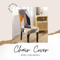 Elastic Chair Cover Shabby / Penutup Sarung Kursi Bangku Elastis Bunga