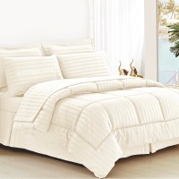 Bed Cover Set Hotel Polos Putih 200x200x30cm - Extra King Size