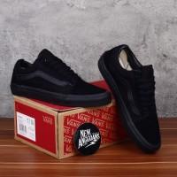 Sepatu Vans Oldskool Full All Black Hitam Polos - Original PREMIUM