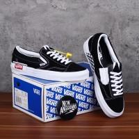 Sepatu Vans Slip On OG Lx Cut And Paste Catur Black White Hitam Putih