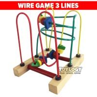 Mainan Edukasi Anak Wire Game Kayu Alur Kawat Motorik Edukatif 3 Line