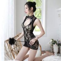 LI-52 fishnet cheongsam baju cina sexy lingerie baju tidur wanita